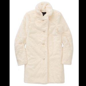 NWOT Talula Beckledge Cream Faux Fur Coat XXS
